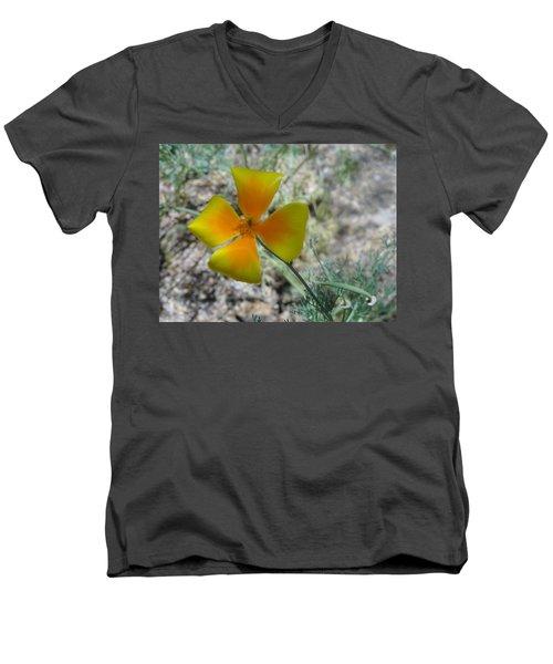 One Gold Flower Living Life In The Desert Men's V-Neck T-Shirt