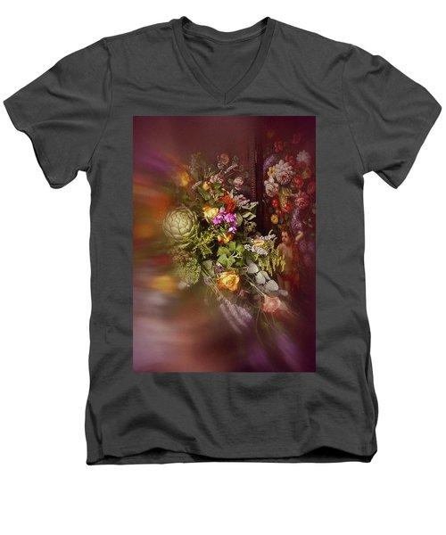 Floral Arrangement No. 1 Men's V-Neck T-Shirt by Richard Cummings