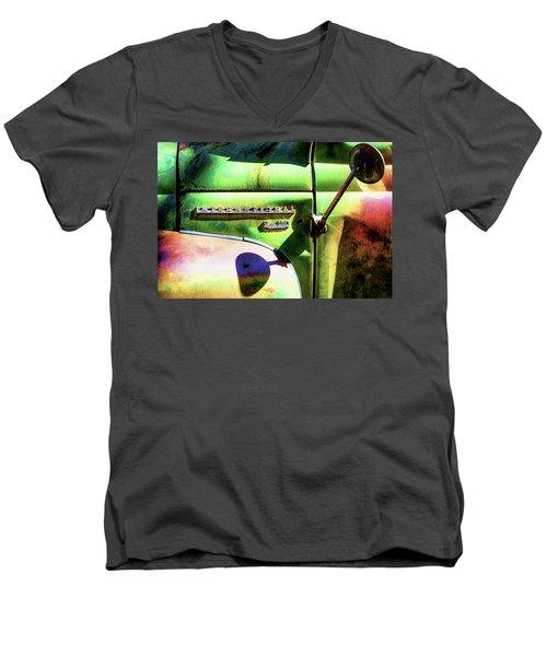 Rear View Mirror Men's V-Neck T-Shirt by Robert FERD Frank