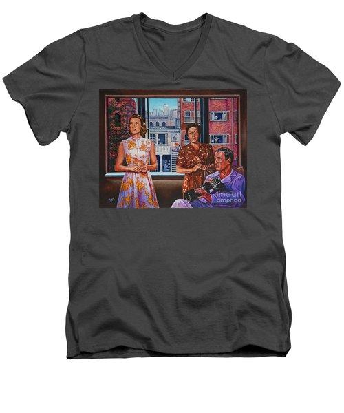 Rear Window Men's V-Neck T-Shirt by Michael Frank