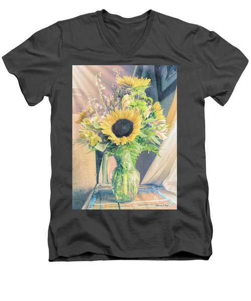 Men's V-Neck T-Shirt featuring the photograph Reared In The Lap Of Summer by Bellesouth Studio