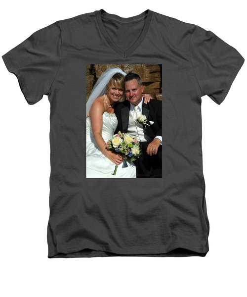 Men's V-Neck T-Shirt featuring the photograph Rebecca And David by Michael Dorn