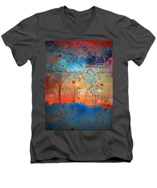 Rebirth Men's V-Neck T-Shirt by Tara Turner