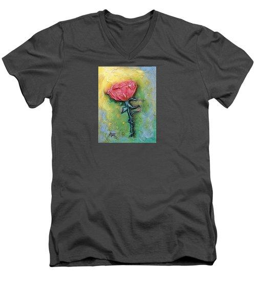 Men's V-Neck T-Shirt featuring the mixed media Reborn by Terry Webb Harshman