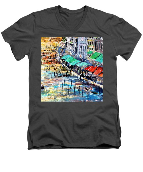 Recalling Venice 02 Men's V-Neck T-Shirt by Alfred Motzer