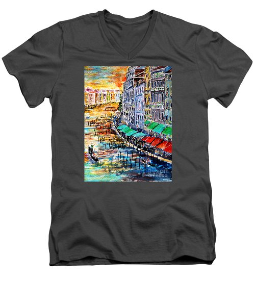 Recalling Venice 03 Men's V-Neck T-Shirt by Alfred Motzer