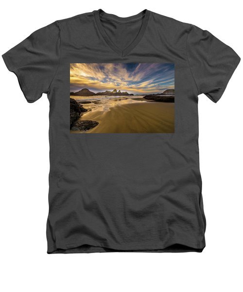 Receding Tide Men's V-Neck T-Shirt