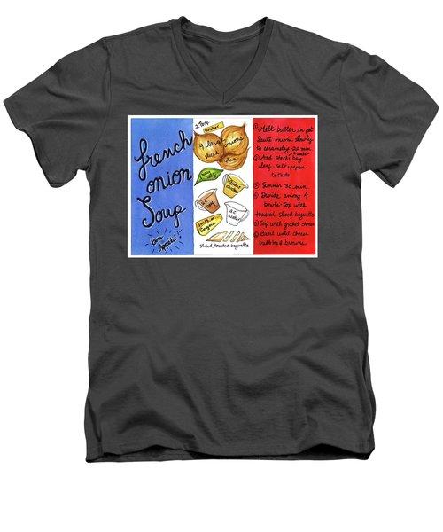 Recipe French Onion Soup Men's V-Neck T-Shirt