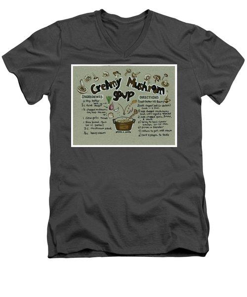 Recipe Mushroom Soup Men's V-Neck T-Shirt