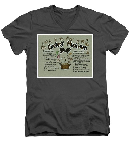 Recipe Mushroom Soup Men's V-Neck T-Shirt