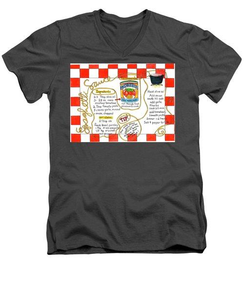 Recipe -spaghetti Sauce  Men's V-Neck T-Shirt