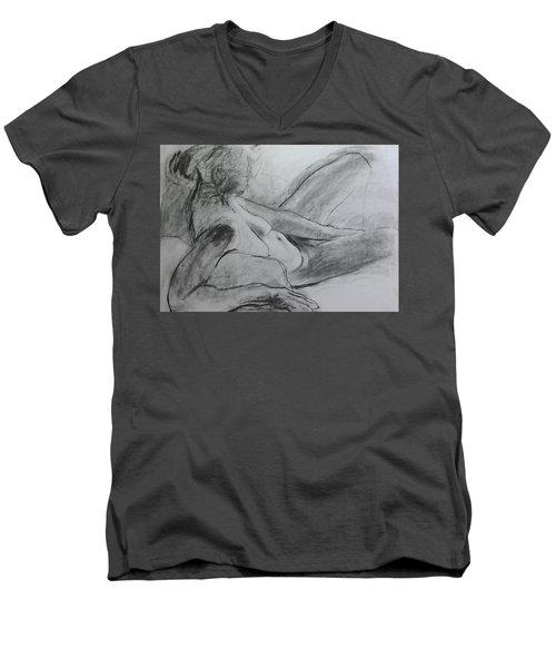 Reclining Figure Men's V-Neck T-Shirt