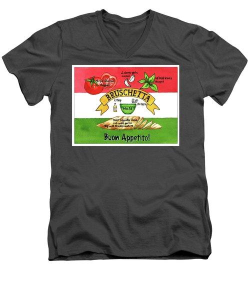 Recpe-bruschetta Men's V-Neck T-Shirt
