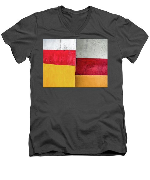 Rectangles With Presence Men's V-Neck T-Shirt