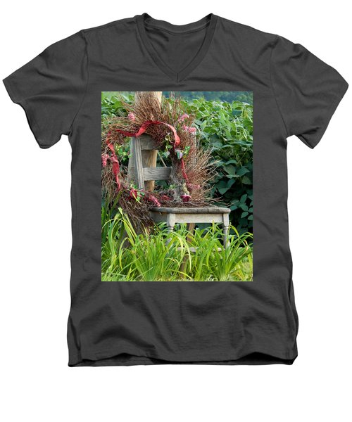 Recycled Welcome Men's V-Neck T-Shirt