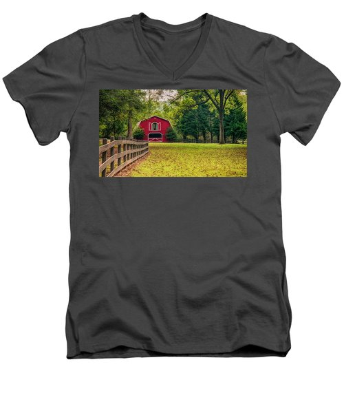 Red Barn 2 Men's V-Neck T-Shirt