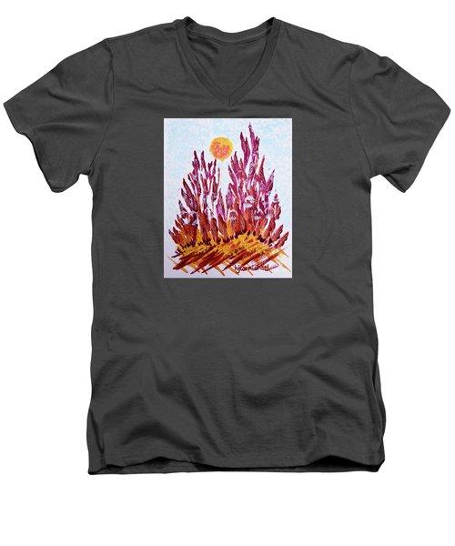 Red Beauties In The Garden Men's V-Neck T-Shirt