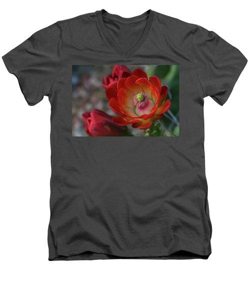 Men's V-Neck T-Shirt featuring the photograph Red Beauty  by Saija Lehtonen