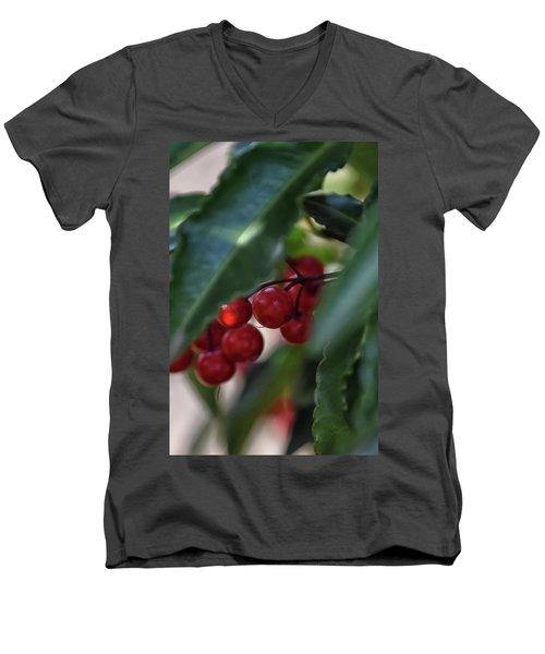 Red Berry Men's V-Neck T-Shirt