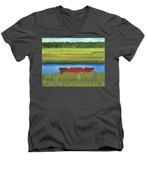 Red Boat - Assateague Channel Men's V-Neck T-Shirt