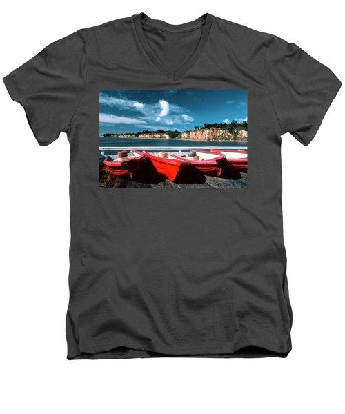 Red Boat Diaries Men's V-Neck T-Shirt