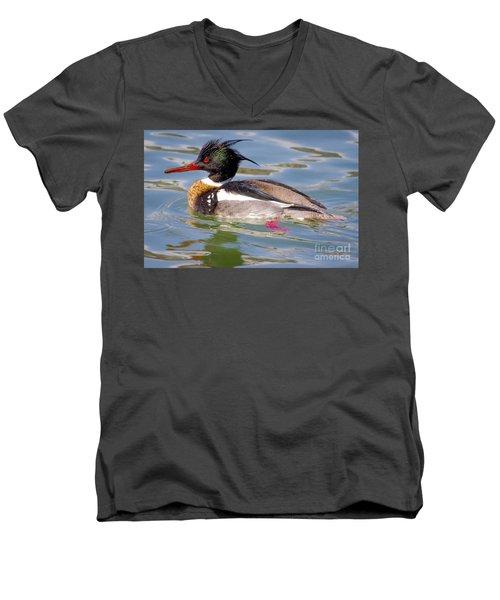 Red-breasted Merganser Men's V-Neck T-Shirt