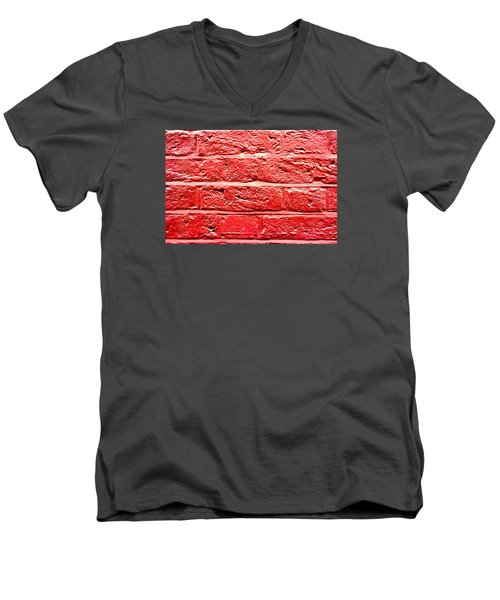 Red Brick Wall Men's V-Neck T-Shirt