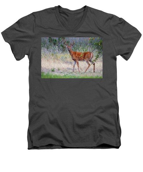 Red Bucks 1 Men's V-Neck T-Shirt