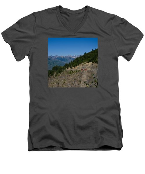 Red Buses, Glacier National Park Men's V-Neck T-Shirt