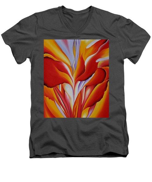 Red Canna Men's V-Neck T-Shirt