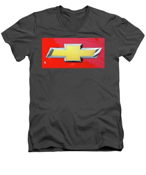 Red Chevy Bowtie Men's V-Neck T-Shirt
