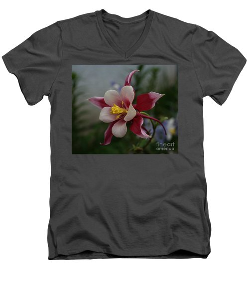 Red Columbine Men's V-Neck T-Shirt