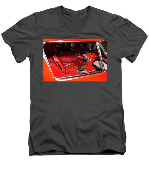 Red Corvette Stingray Men's V-Neck T-Shirt