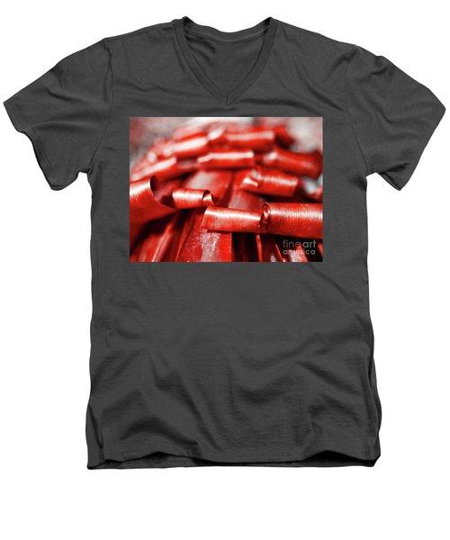 Red Curls Men's V-Neck T-Shirt