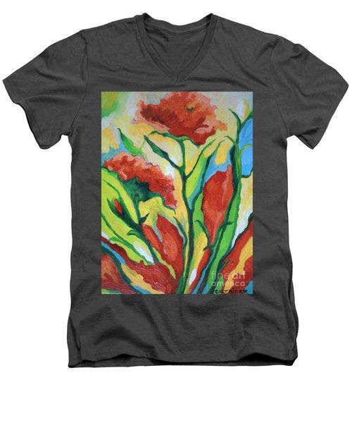 Red Delight Men's V-Neck T-Shirt