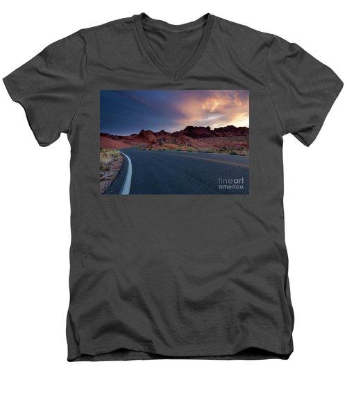Red Desert Highway Men's V-Neck T-Shirt