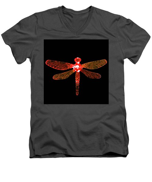 Red Dragonfly Men's V-Neck T-Shirt