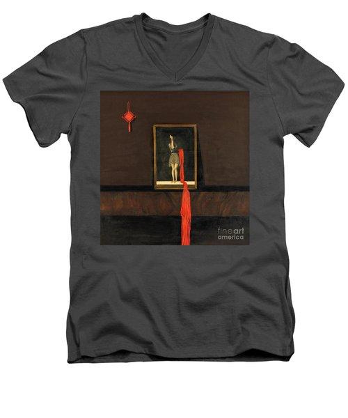 Red Echo Men's V-Neck T-Shirt