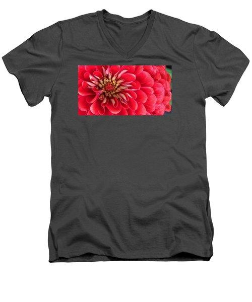Red Explosion Men's V-Neck T-Shirt by Bruce Bley