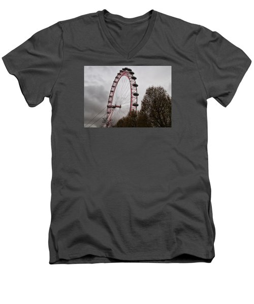 Men's V-Neck T-Shirt featuring the photograph Red Eye by Shirley Mitchell