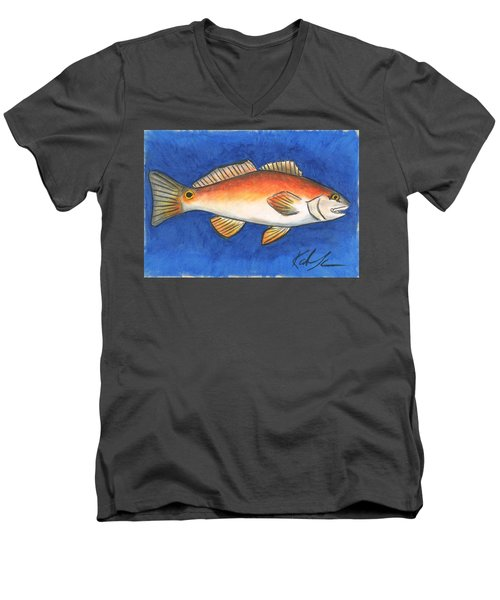 Red Fish Men's V-Neck T-Shirt