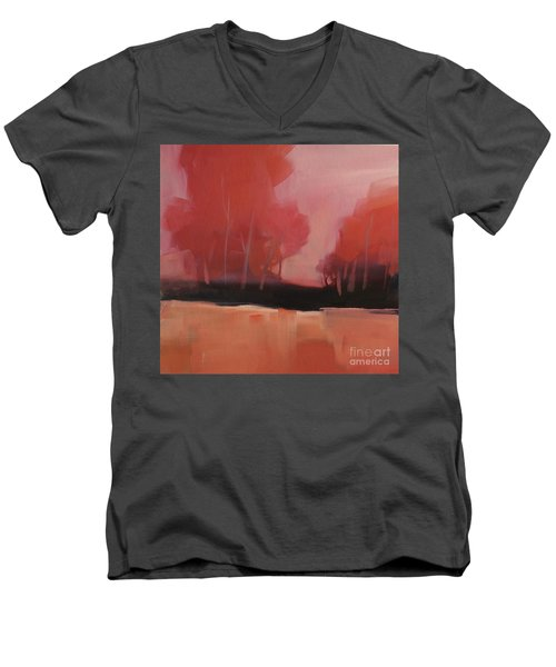 Red Flair Men's V-Neck T-Shirt