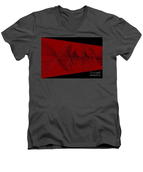 Red And Black Design. Art Men's V-Neck T-Shirt