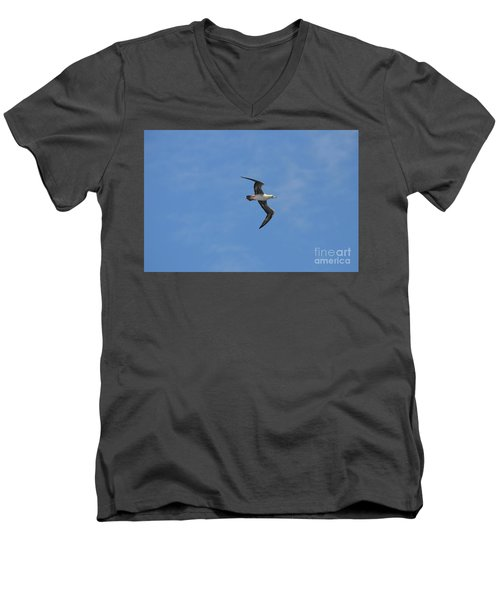Men's V-Neck T-Shirt featuring the digital art Red Footed Booby Bird 1 by Eva Kaufman