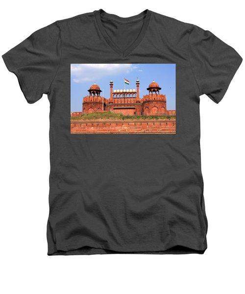 Red Fort New Delhi Men's V-Neck T-Shirt