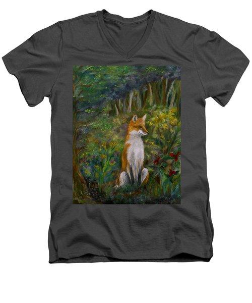Red Fox Men's V-Neck T-Shirt
