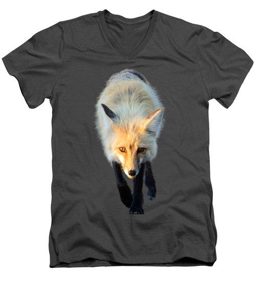 Red Fox Shirt Men's V-Neck T-Shirt by Greg Norrell
