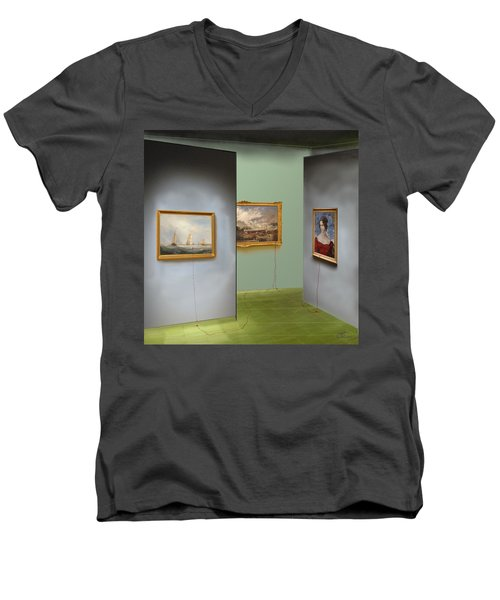 Red Gallery Men's V-Neck T-Shirt