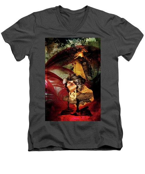 Red Girl Men's V-Neck T-Shirt