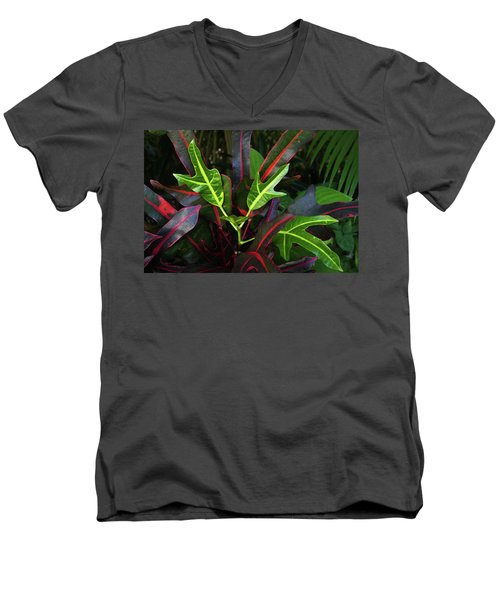 Red Hot And Green Men's V-Neck T-Shirt